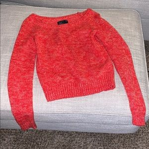 Red American eagle sweater